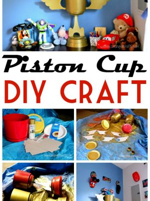 If your #Disneykid is obsessed with #Cars, you'll love this fun Piston Cup craft you can make on the cheap - and it serves as great stuffed animal storage as well! #cmongetcrafty