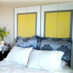 DIY Headboard from Up-cycled Closet Doors