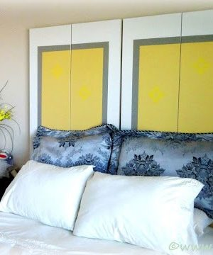 DIY Headboard Using Old Closet Doors!