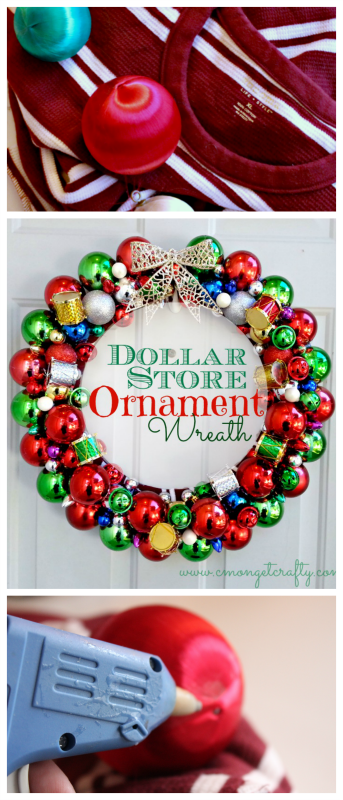 Have you marveled over all the beautiful ornaments wreath photos in catalogs and on Pinterest? Well here's the tutorial on how to make your own!