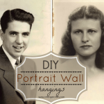 DIY Portrait Wall Hangings