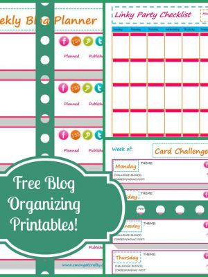 Blog Organization Printables