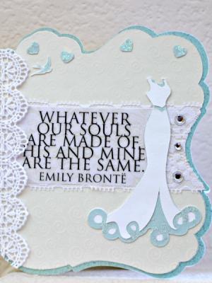 Get Crafty with Cards: Shabby Chic Wedding Card
