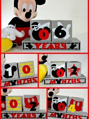 Mickey Mouse Birthday Blocks