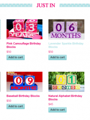 Birthday Blocks website