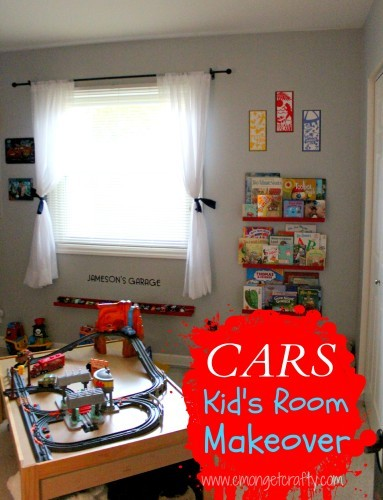 Do you have a little Cars fan in need of a bedroom update? Check out the simple methods I used to give my son the Cars bedroom of his dreams!