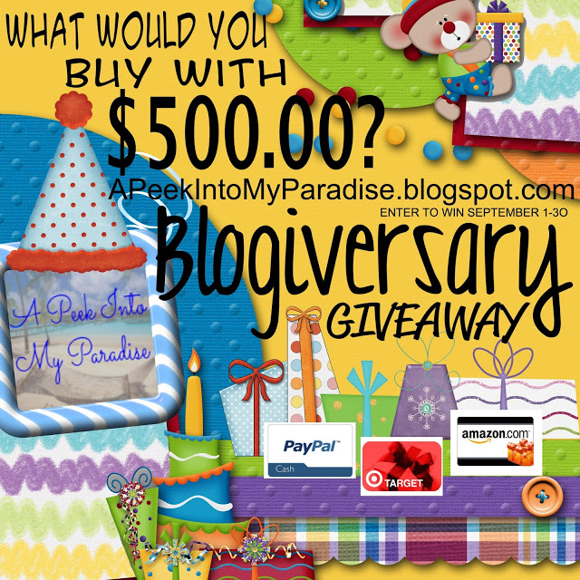 What Would YOU Do With $500??  Celebrate with a Giveaway!!