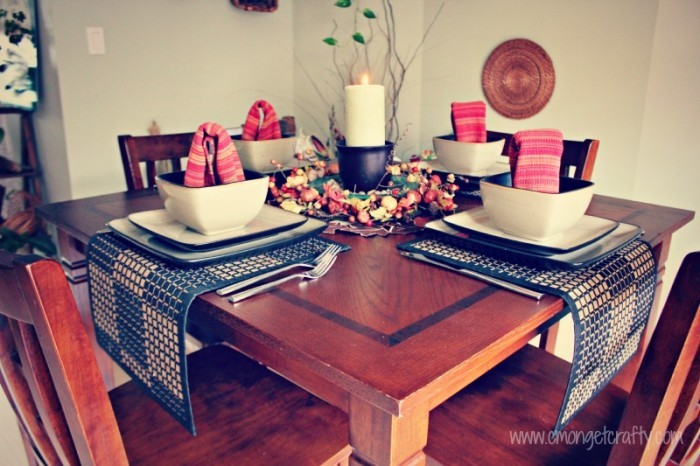 Autumn Tablescape for Small Table