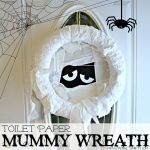 Crafty Quickie – DIY Toilet Paper Mummy Wreath