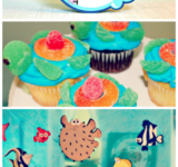 Plenty of ideas for food and decorations for your own Finding Nemo birthday party! #disneyparty #disney #nemo #dory #findingnemo #findingdory #kidparty #disneybirthday #cmongetcrafty