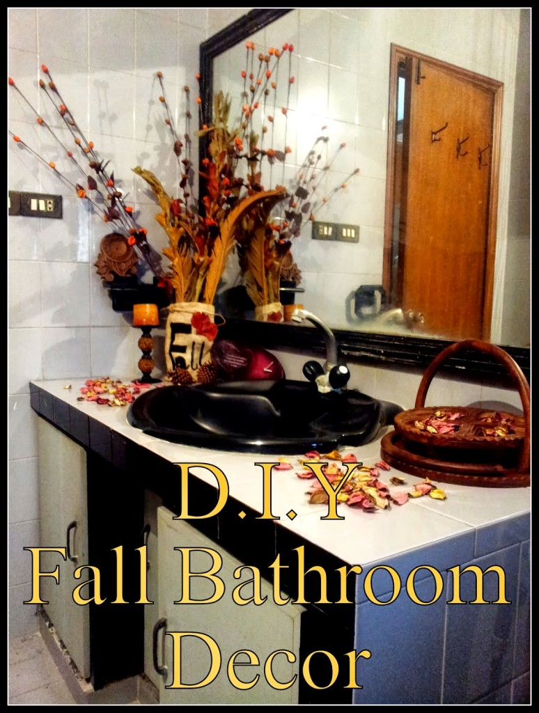 DIY Fall Bathroom Decor: Guest Post from Amber at The Vanity Room