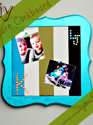 Crafty Quickie: Cork board Picture Frame