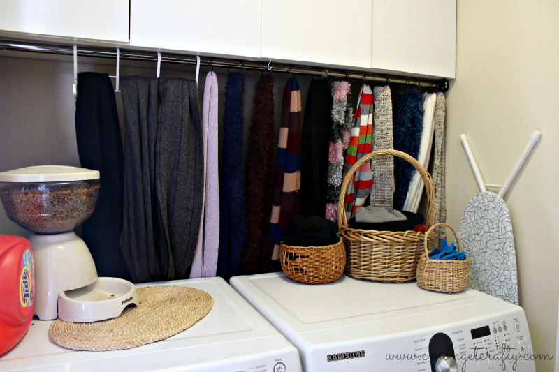 Even a small mud room or laundry space can be made over pretty!