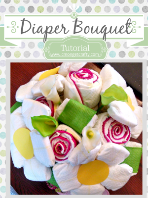 Baby Series: Create a Diaper Bouquet