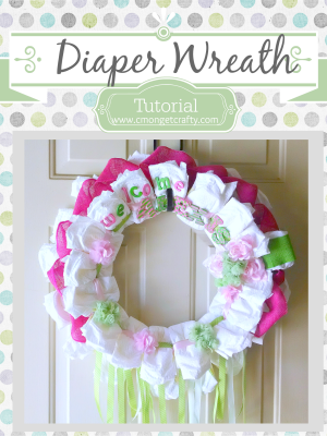 How to Make a Diaper Wreath