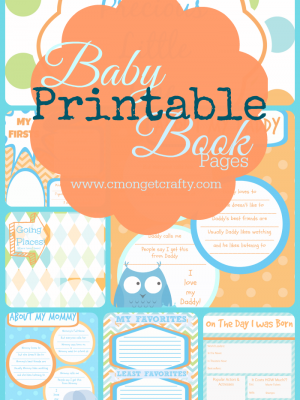 C'mon Get Crafty Printable Baby Book Pages