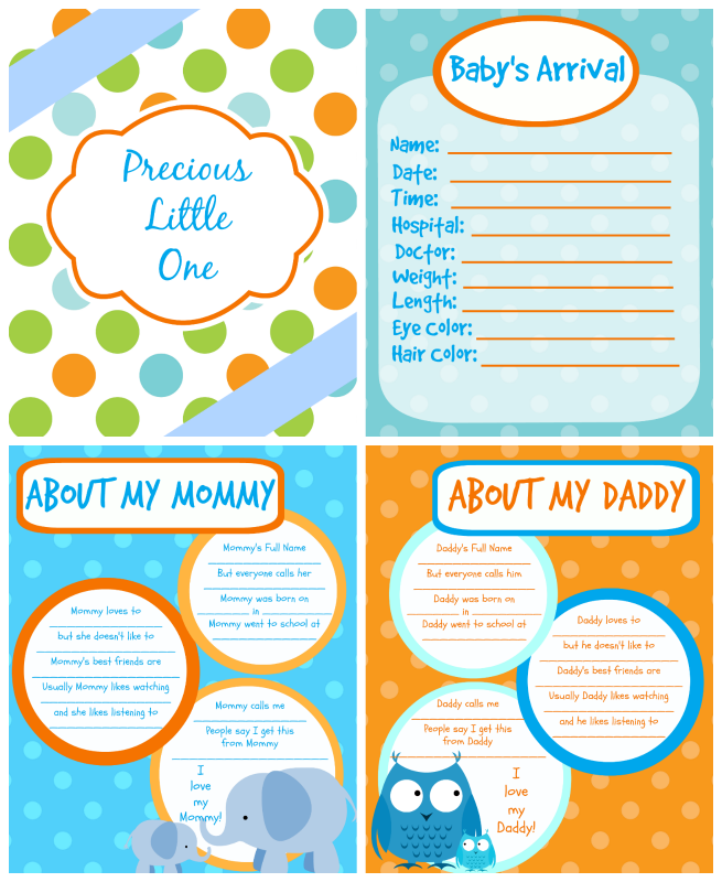 It is a photo of Modest Free Printable Baby Book Pages