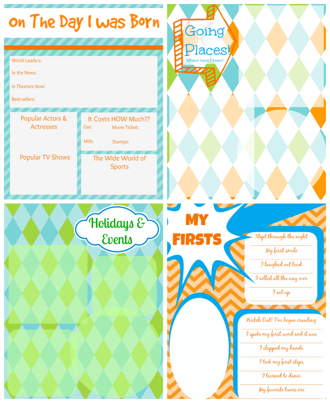 Printable Baby Book Pages Free Download
