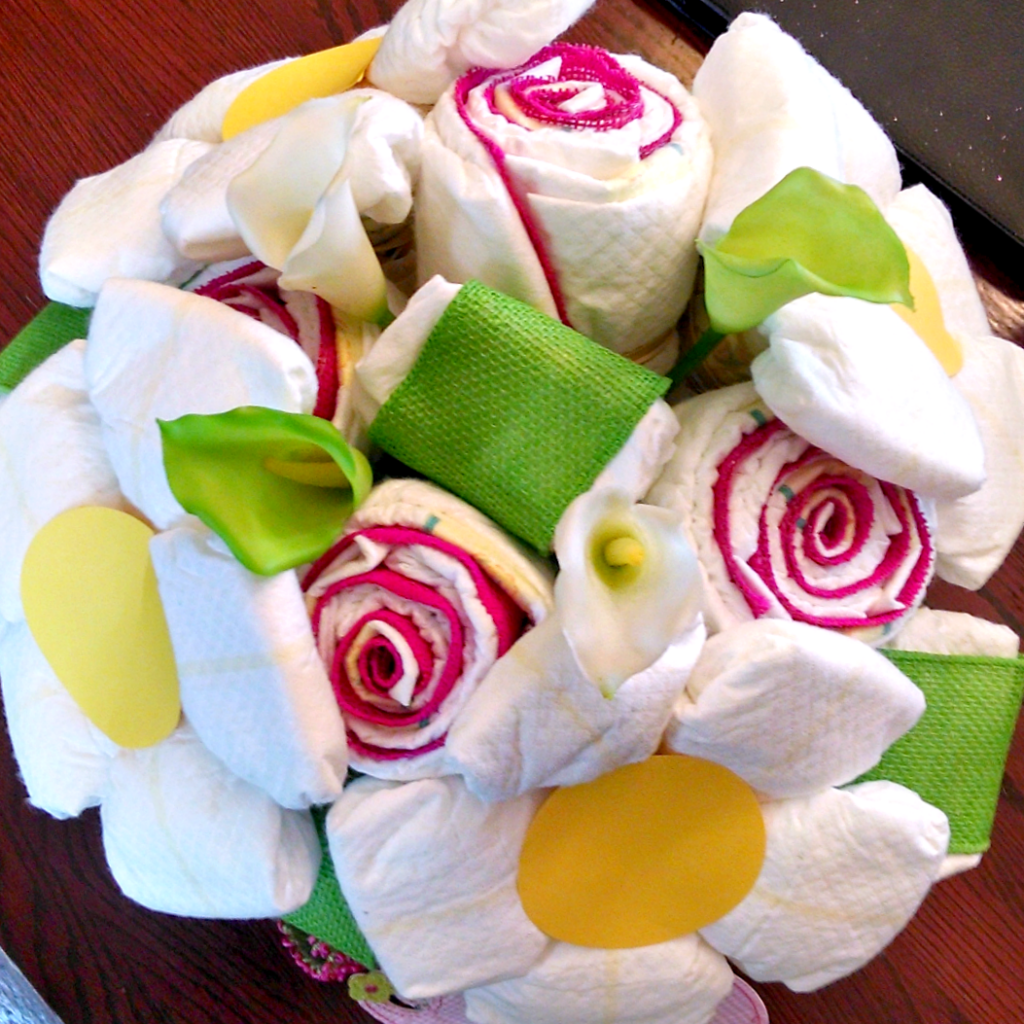 How to Create a Diaper Bouquet