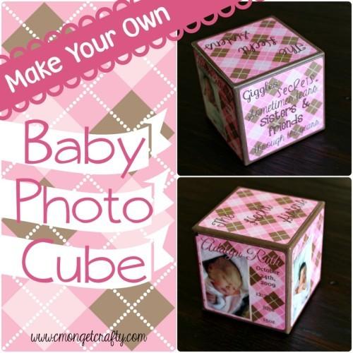 Cute Baby Photo Cube