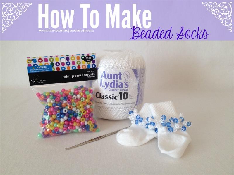 How to Make Beaded Socks
