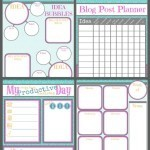 Keeping Organized with My Printable Blogging Planner {and Free Downloads For You!}