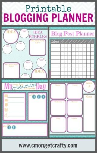 Printable Blogging Planner