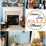 Simple & Pretty Fall Mantel
