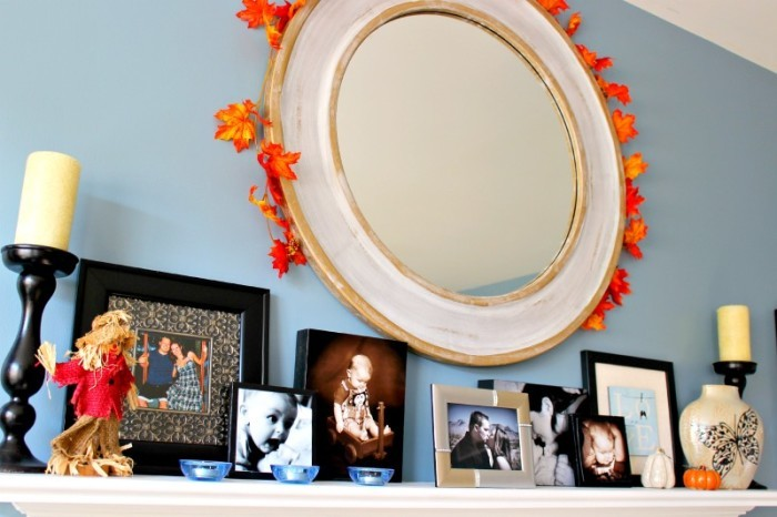 Try these simple touches to create a pretty fall mantel for your home this season, using basic decor items you can get on a budget!