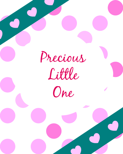 Printable Baby Book Pages - Girl Cover