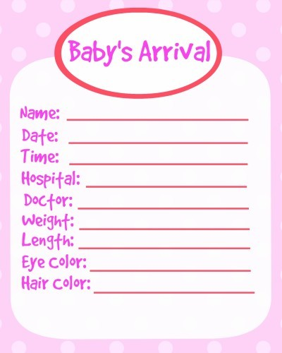 Printable baby book pages girl for Free printable baby book templates