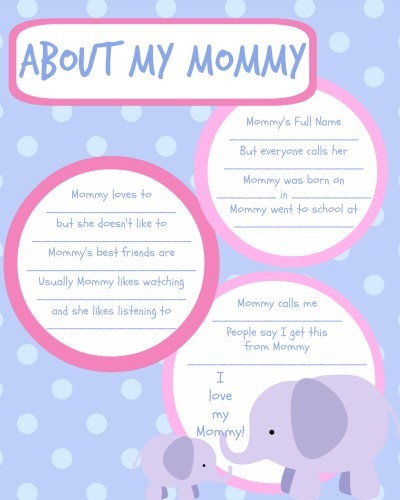 Baby Book Ideas: Printable Baby Book Pages