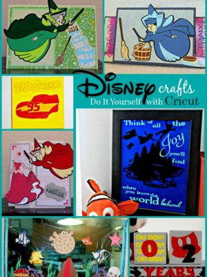 DIY Disney Crafts with Cricut's Disney Cartridges and the new FROZEN Bundle