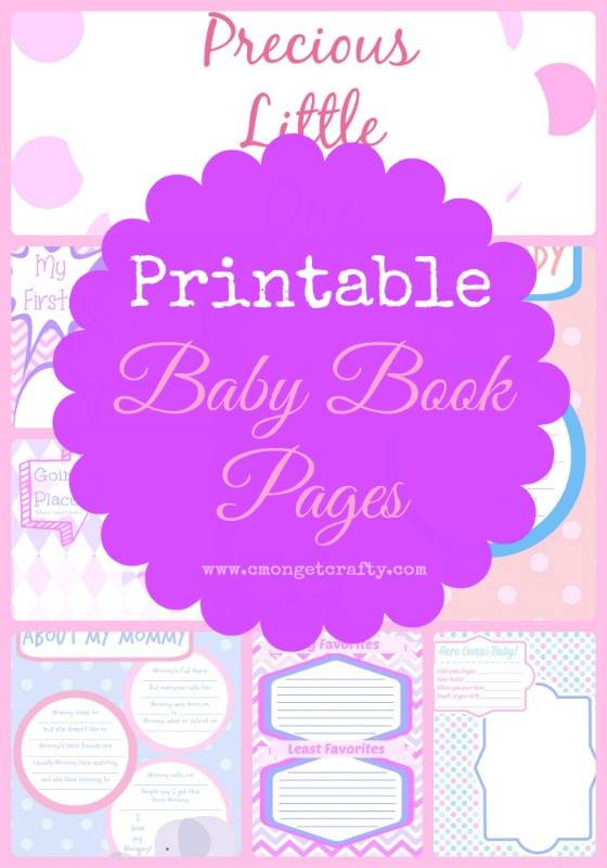 This is an image of Declarative Free Printable Baby Book Pages