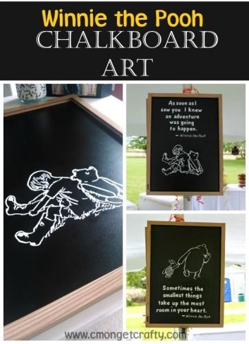 Winnie the Pooh Chalkboard Art
