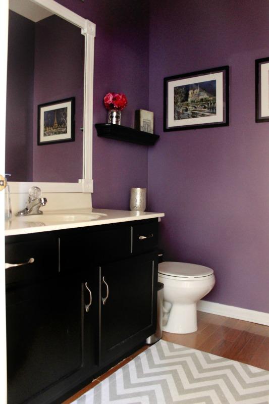 Bathroom Transformation Diy Powder Room Makeover