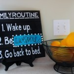 Crafty Quickie: Awesome Family Sign DIY