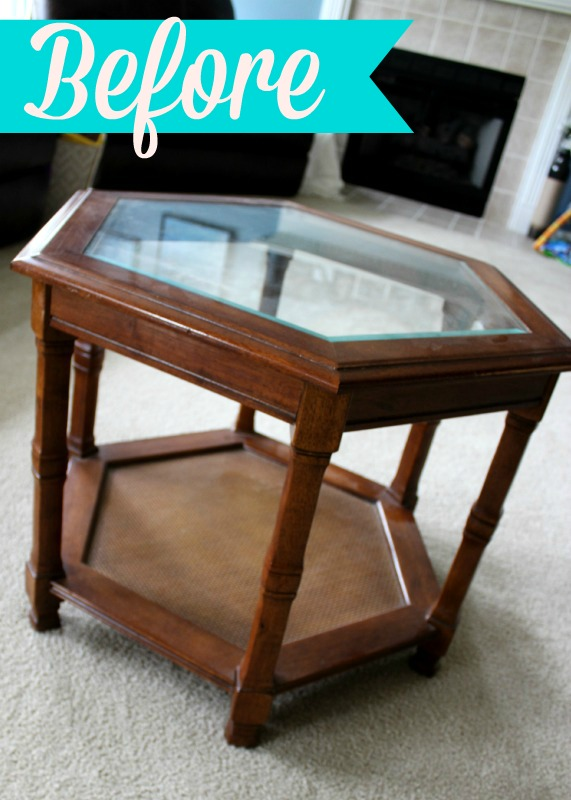 Chalk Paint Side Table Makeover C Mon Get Crafty
