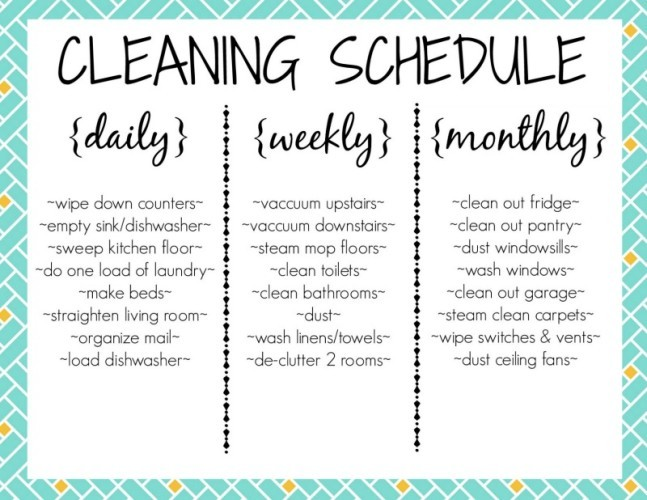 Cleaning Printable