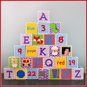 Gender Neutral Alphabet Blocks Framed