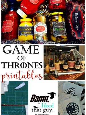 Throw a great Game of Thrones party with these free printables!