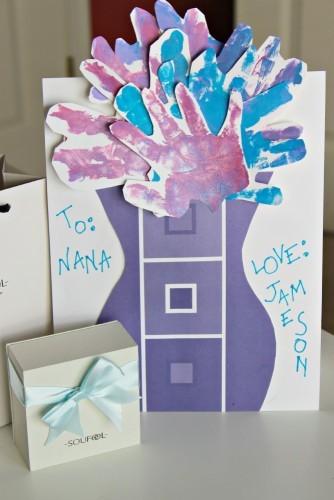 Handprint bouquet