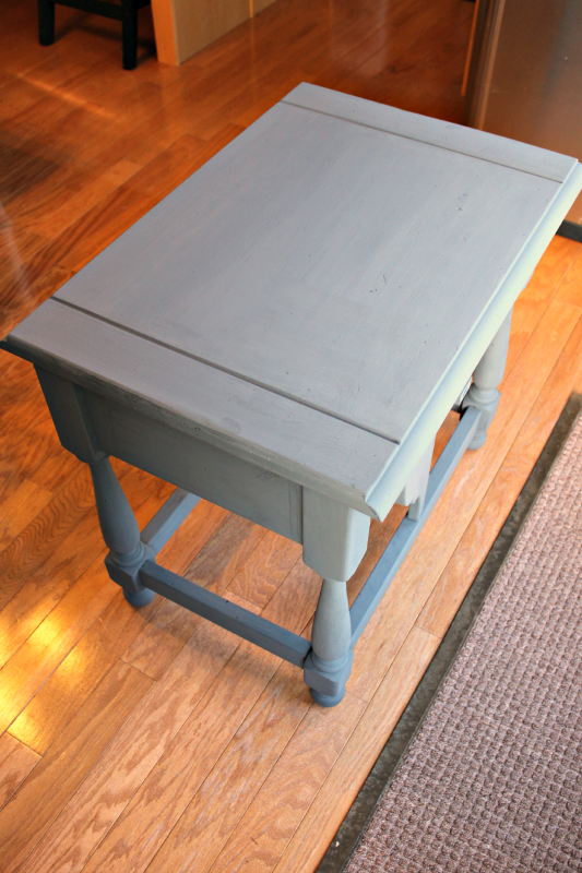 Stenciled Side Table
