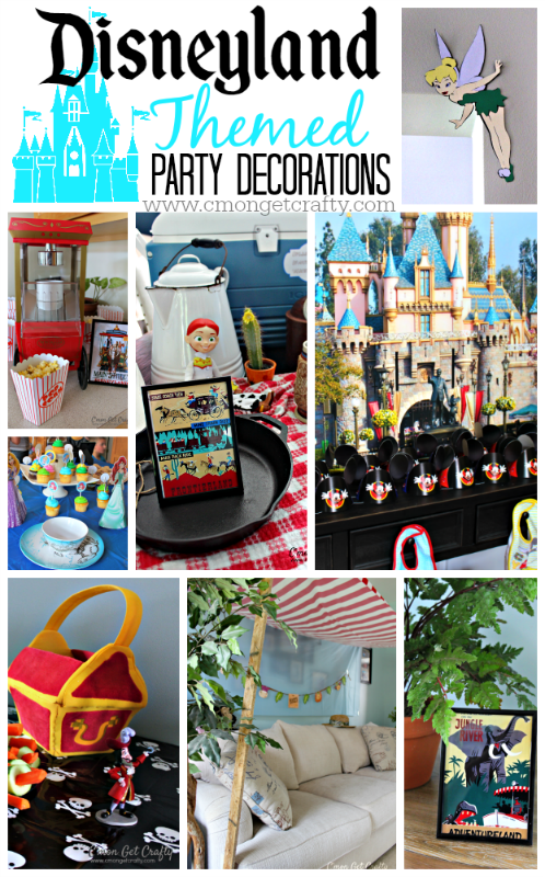 Disneyland Themed Party Decorations {Free Printables!!}