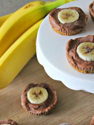Chocolate Banana Cheesecake Bites