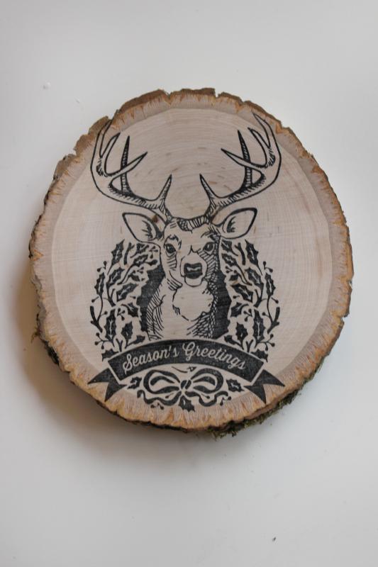 Stamp on wood
