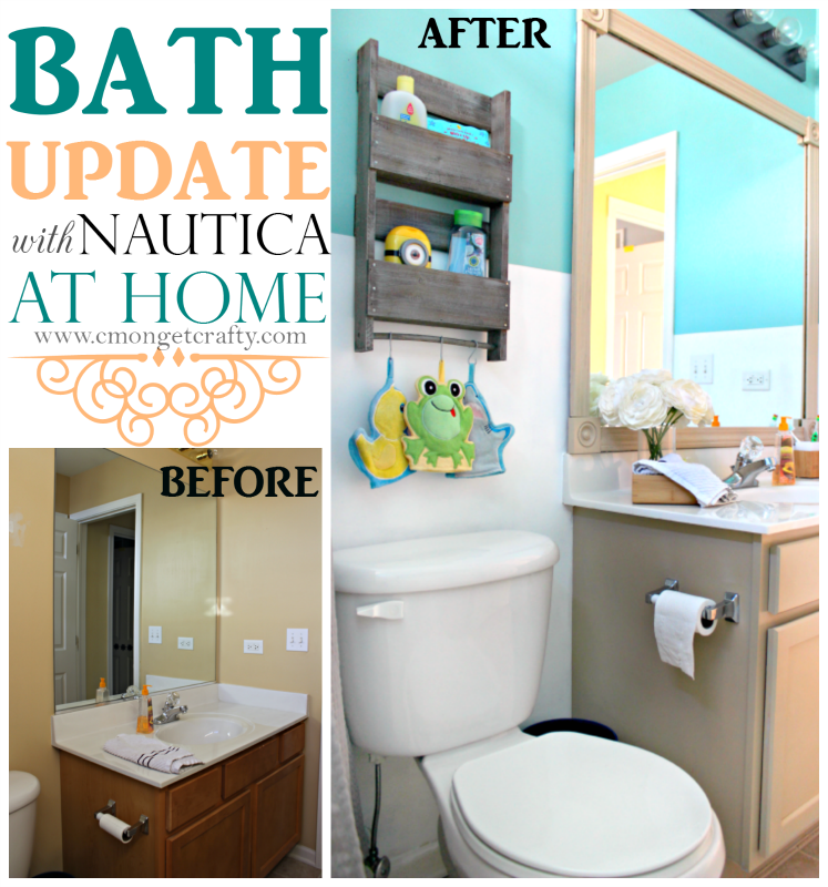 Bathroom Makeover With Nautica At Home Cmon Get Crafty