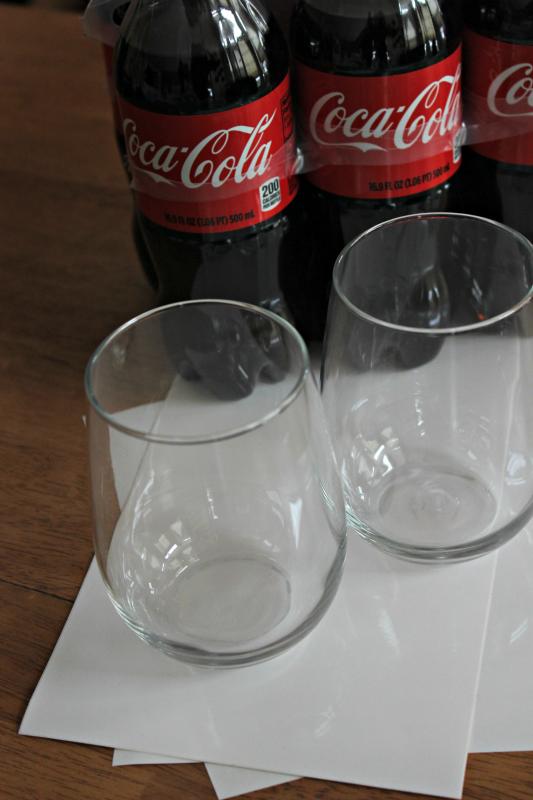 how to make football glasses