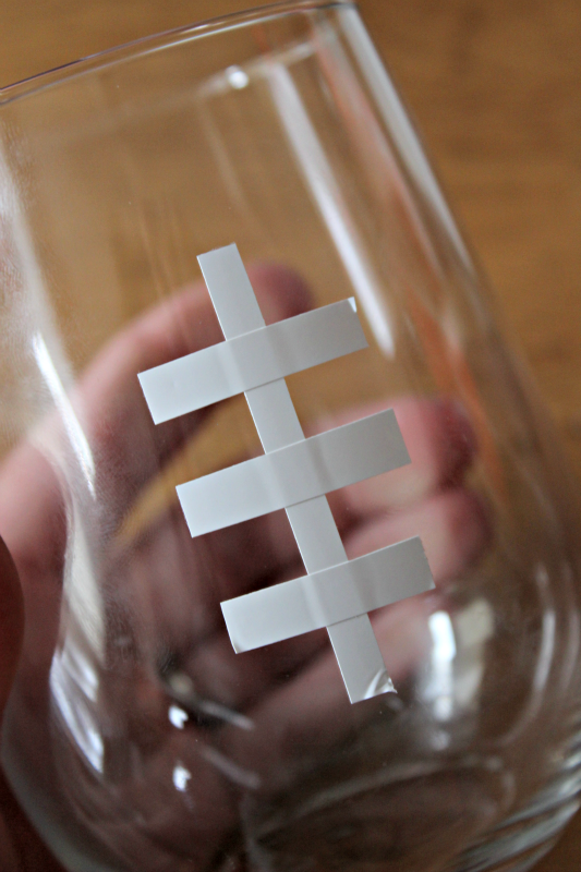make a glass into a football