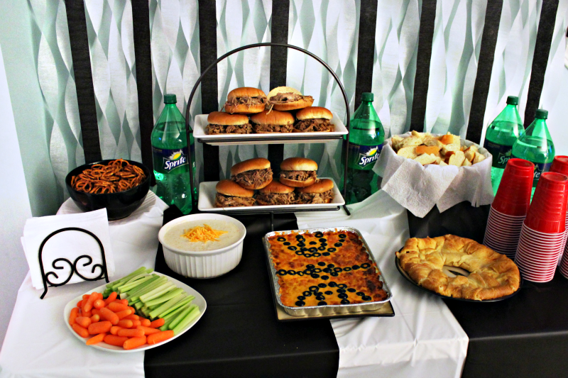 Basketball party tablescape